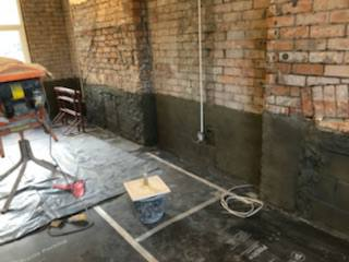 Damp Proofing Llanelli Loughor Pauls Plastering Before