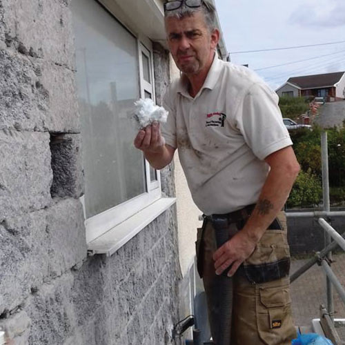 Pauls Plastering Llanelli Cavity Wall Suction
